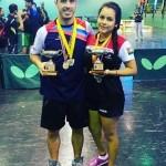 Marco Navas y Carmen Rivas se coronaron campeones nacionales en Venezuela