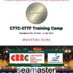 Invitación a Campamento de entrenamiento Seamaster ITTF en china 2017, del 26 de junio al 4 de julio.