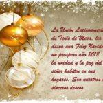 La Unión Latinoamericana de Tenis de Mesa, les desea una Feliz navidad y un Prospero año 2018.